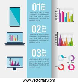 infographic template set icons