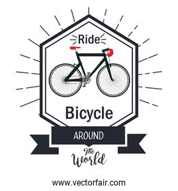 bicycle adventure seal icon