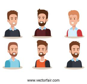 group of men avatars characters