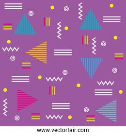 circles lines and triangles modern background