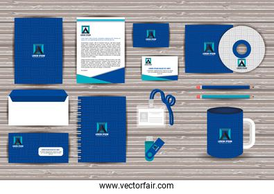 corporate company advertising set elements