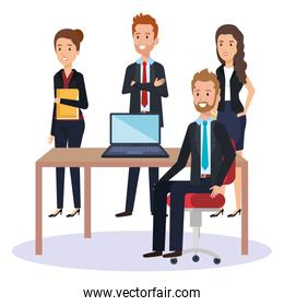 resources human office company scene with businesspeople