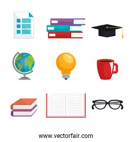 electronic learning technology icons