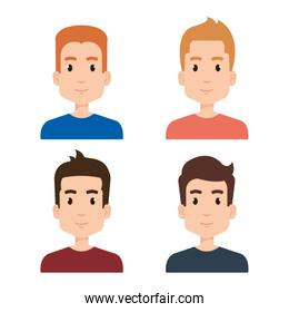group of young boys avatars