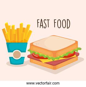 delicious fast food icons