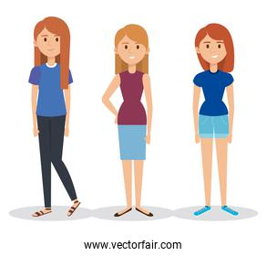 young girls avatars characters