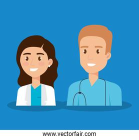 healthcare medical staff characters