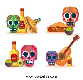 day of the dead masks with culture items