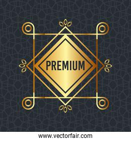 premium quality golden frame