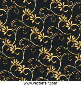 victorian and floral golden background