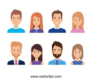 group of business people characters
