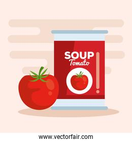 tomato soup with vegetable