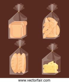 delicious bread bags and cheese
