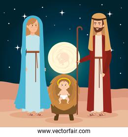 holy family manger characters