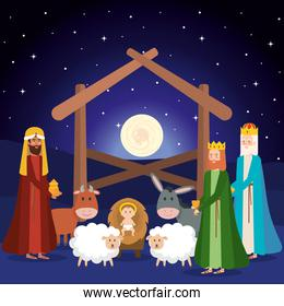 wise kings manger characters