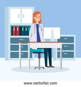 female doctor in consulting room
