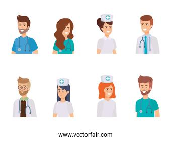 group of doctors with nurse