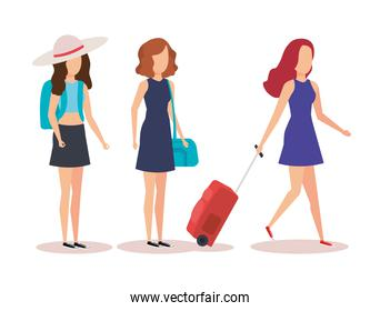 Isolated travel girls design