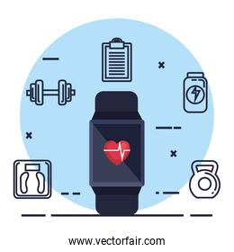 smartwatch with fitness app