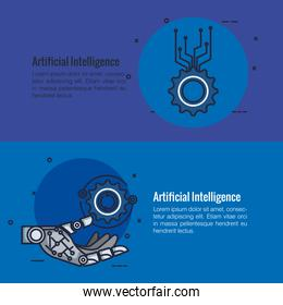 artificial intelligence infographic icons
