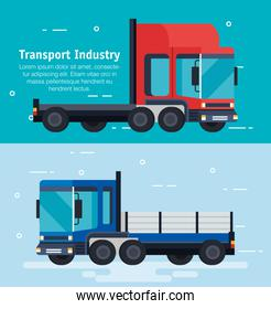 delivery service trucks vehicles