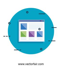template webpage isolated icon