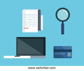 set service tax with laptop and credit card