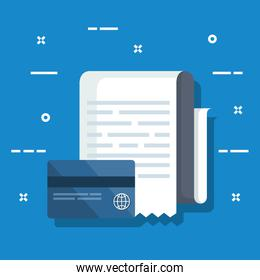 credit card with service invoice report