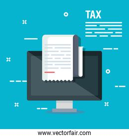 business service tax report and computer