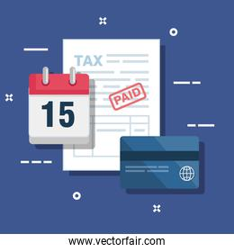 service tax with credit card and calendar