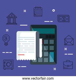 finance calculator with invoice report