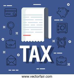 service tax document with business report
