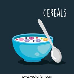 delicious cereal breakfast food with spoon
