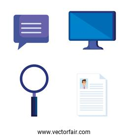 set computer technology with doctor document diagnosis