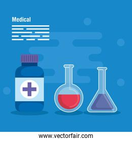 medical erlenmeyer flask diagnosis and pills