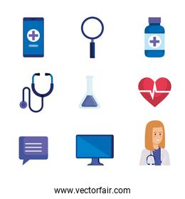 set medical equipment to online technology diagnosis