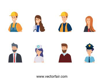 set traditional employers with professional uniform