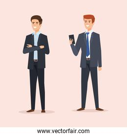 executive businessmen to professional and finance company