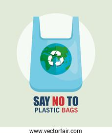 recycle plastic bag to stop the waste problem