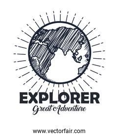 explorer earth planet adventure travel