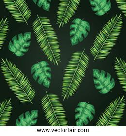 exotic branches leaves plants style