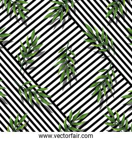 geometric lines texture style with tropical background