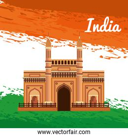 poster of india architecture of holiday patriotism