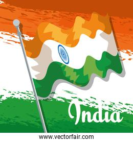 india patriotism flag and traditional holiday
