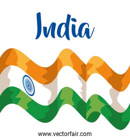 india flag and tradional and national patriotism