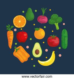 fresh organic vegetables and fruits nutrition