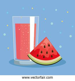 watermelon fruit and fresh juice nutrition