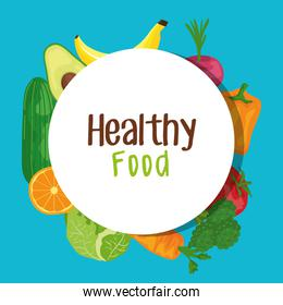 label of fresh vegetables and fruits organic nutrition