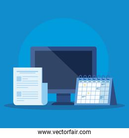 computer technology with document information and calendar