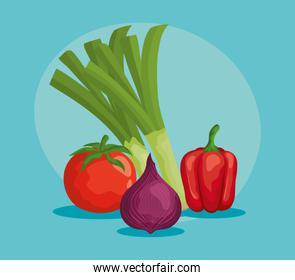 healthy vegetables with fresh vitamins and nutrition